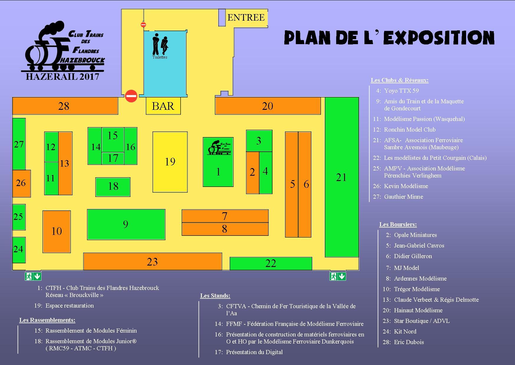 Hazerail 2017 : Plan de l'exposition-bourse