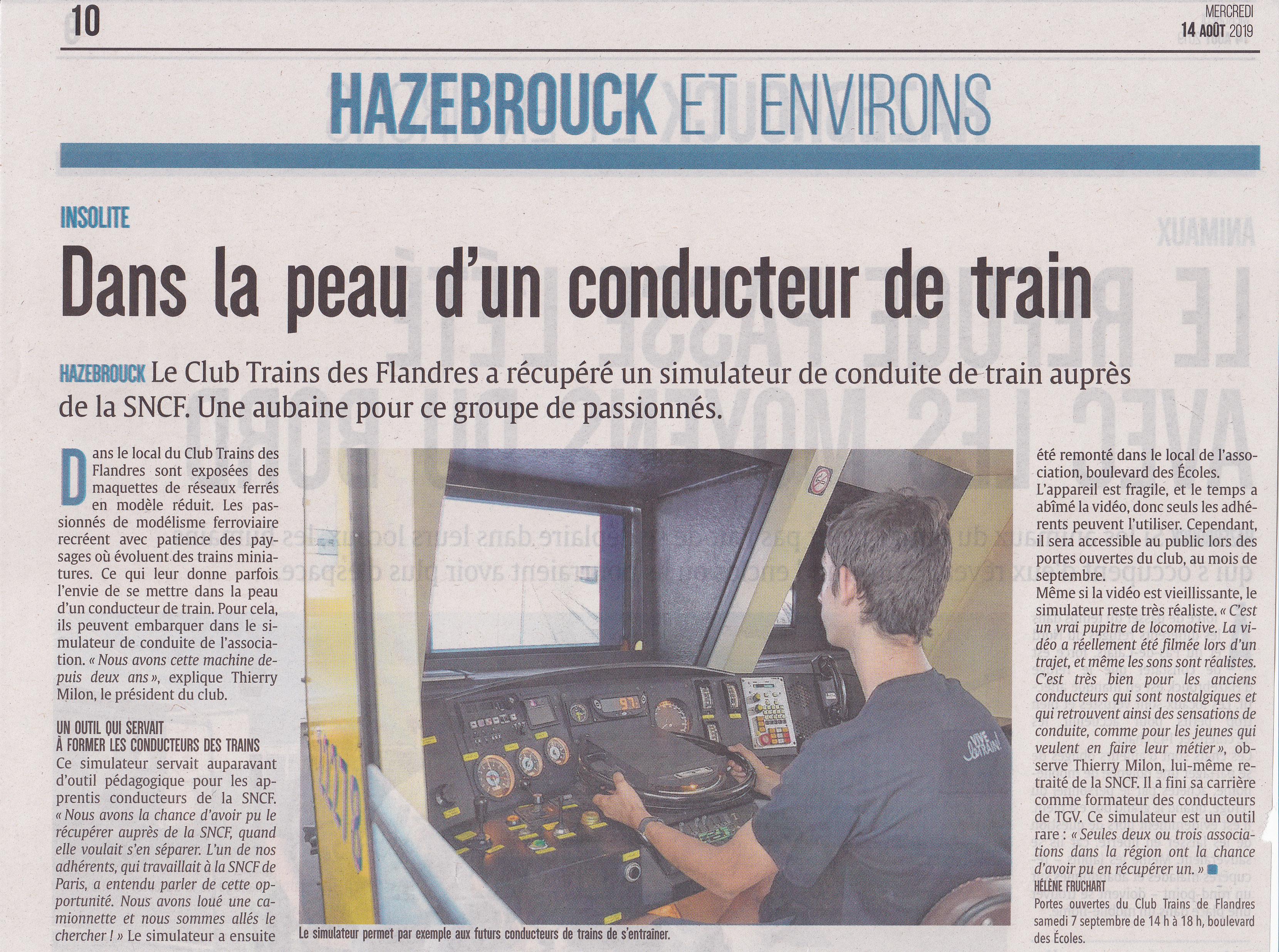 L'Indicateur – Mercredi 14 aout 2019